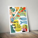 Cartel de carnaval ganador de Motilla del Palancar. A Design, Illustration, and Poster Design project by Mey Toledo - 12.15.2019