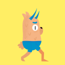 Personaje andando. A Animation, and Digital illustration project by Mey Toledo - 12.03.2020