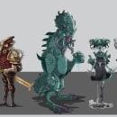 Line Up final, temática lovercraftiana! . Un proyecto de Ilustración y Diseño de personajes de Sergio Peña - 04.12.2020