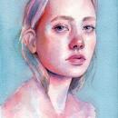 Mi Proyecto del curso: Retrato artístico en acuarela. A Illustration, Fine Art, Watercolor Painting, Portrait Drawing, and Realistic drawing project by Vrigit Smith - 12.08.2020