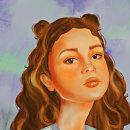 La Chica . Un proyecto de Ilustración, Ilustración digital, Ilustración de retrato, Dibujo de Retrato y Dibujo digital de Sara Matos - 08.12.2020