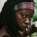 Retrato de Danai Gurira (Michonne). Un proyecto de Bellas Artes, Pintura, Dibujo de Retrato y Dibujo artístico de Adrián Durá Reina - 30.11.2020