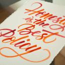 Lámina con caligrafía itálica con brush pen y acuarela.. Um projeto de Caligrafia e Caligrafia com brush pen de Javier Piñol - 20.11.2020