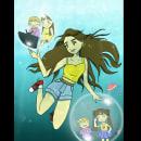 Mi Proyecto del curso: Ilustración digital con influencia manga. Um projeto de Ilustração digital de Karen Oroz - 11.12.2020