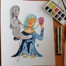 Mi Proyecto del curso: El Alma de Dorotea. Un proyecto de Ilustración, Pintura a la acuarela e Ilustración infantil de Daniel Alcántara - 11.12.2020