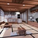 Oriental home. Un proyecto de 3D, Arquitectura interior, Diseño de interiores, Decoración de interiores, Diseño 3D e Interiorismo de Jonatan Siria Sanchez - 15.10.2020