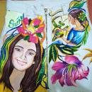 Mi Proyecto del curso: Diseño de moda: pintura y bordado sobre prendas. Um projeto de Artesanato, Artes plásticas e Ilustração têxtil de Kyara Jurado - 12.12.2020