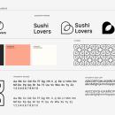 Sushi Lovers. Logo & Identity Design. Gerardo Molina.. Un proyecto de Br e ing e Identidad de Gerardo Molina - 22.12.2020