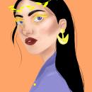 Chica corona. A Digital illustration, and Portrait illustration project by Mey Toledo - 12.22.2020