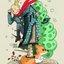 El Rey Pok. Un proyecto de Ilustración, Diseño de personajes, Ilustración digital e Ilustración infantil de Daniel Alcántara - 23.12.2020
