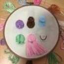 Mi Proyecto del curso: Técnicas de bordado para crear peinados con volumen. Um projeto de Artesanato, Criatividade e Bordado de Aida Gallegos - 23.12.2020
