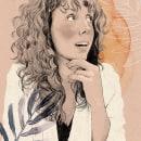 Andrea Blasco_Mi Proyecto del curso: Retrato ilustrado con Procreate. A Illustration, Drawing, Digital illustration, Portrait illustration, Portrait Drawing, and Artistic drawing project by Andrea Blasco - 12.23.2020