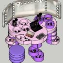 Tocador + Secreter = TOCRATER (mueble de maquillaje para dama). Um projeto de Design de interiores de Carlos Enrique Gonzales Gonzales - 28.12.2020