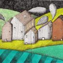 Mi Proyecto del curso: Dibujo creativo con tinta y gouache. Un progetto di Illustrazione, Illustrazione infantile, Illustrazione con inchiostro e Illustrazione editoriale di laninaplanta - 20.12.2020