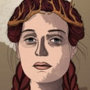 My Queen - Técnicas de ilustración con acuarela digital. Un proyecto de Ilustración, Ilustración digital, Pintura a la acuarela e Ilustración de retrato de Sara Azurdia - 06.10.2020