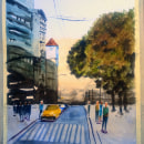 Paisaje urbano: sombras y detalles finales. Un proyecto de Ilustración de Marìa Inès Garin - 05.01.2021