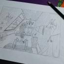 Guarida de bruja victoriana . Un proyecto de Cine, vídeo, televisión, Escenografía y Dibujo a lápiz de Oriana Garzón Montoya - 06.01.2021