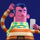 Mis trabajos del curso C4D para la creación de personajes. Um projeto de 3D, Design de personagens 3D, 3D Design, To e Art de Fernando Mora - 06.01.2021