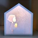 Lámpara con papel de arroz japonés. Um projeto de Ilustração de Laura Montes - 07.01.2021