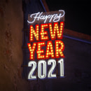 Merry Christmas & Happy New Year 2021 neon lights. Um projeto de 3D de Adrián Dafonte Gómez - 31.12.2020