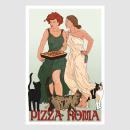 Pizza Roma Poster. Um projeto de Design, Ilustração, Publicidade, Artes plásticas, Design de cartaz, Ilustração digital, Design digital, Desenho digital e Sketchbook de Kultnation - 09.11.2020