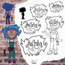 Meu projeto do curso: Design de personagens para animação com Photoshop. A Animation, 2D Animation, Drawing, Concept Art, and Sketchbook project by Glauce Castor de Medeiros - 01.11.2021