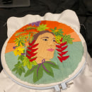 My project in Introduction to Botanical Embroidery course. A Stickerei project by Megan Hyson - 13.01.2021