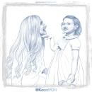 Kate & Eva. Un proyecto de Ilustración, Ilustración digital y Dibujo digital de Keoni VGN - 08.06.2020