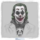 Joker Phoenix. Un proyecto de Ilustración, Ilustración digital, Ilustración de retrato y Dibujo digital de Keoni VGN - 21.12.2019