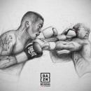 Project for DAZN. (Boxing). Um projeto de Ilustração, Desenho e Desenho digital de Andrés Sánchez Art - 23.01.2021