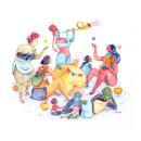 Ilustraciones para loza. Um projeto de Ilustração com tinta de Sol Díaz Castillo - 27.01.2021