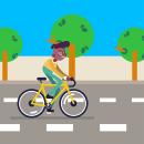Ejercicio Ciclista: Animación y diseño de personajes en After Effects. Un proyecto de Motion Graphics, Animación, Diseño de personajes, Ilustración vectorial y Animación 2D de Roman Lara - 30.01.2021