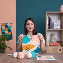 Proyecto Final del curso: Tapiz Abstract. Um projeto de Ilustração têxtil, DIY e Crochê de Flor Samoilenco - 03.02.2021