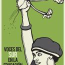 Cartel Voces del Sur en la Educación Popular. Un proyecto de Diseño de carteles e Ilustración digital de Casa Tezontle - 04.02.2021