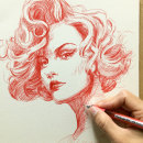 Cabeza de mujer. Um projeto de Desenho e Desenho de Retrato de Alonso Palomino - 08.02.2021