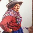 Dibujo de anciana campesina. Um projeto de Artes plásticas, Desenho, Desenho realista e Desenho artístico de Alonso Palomino - 08.02.2021
