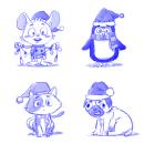 Christmas Cliparts. Un proyecto de Diseño de personajes de Matias Molusko - 08.02.2021