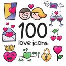 Valentine icons. Un proyecto de Diseño de iconos de Matias Molusko - 08.02.2021
