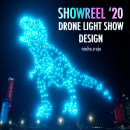 Drone Light Show Design - Showreel 2020. A Film, Video, TV, 3D, Events, 3D Animation, and Design 3D project by Nacho Cruje Design - 02.08.2021
