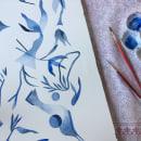Azul. Um projeto de Pintura em aquarela de Laura Behnke García - 09.02.2021