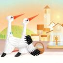 El nido de las cigüeñas. Um projeto de Ilustração, Ilustração infantil e Ilustração editorial de Romina Martí - 11.10.2018