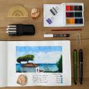 Vistas desde mi casa.Mi Proyecto del curso: Cuaderno de viaje en acuarela. Um projeto de Desenho artístico de Lourdes Alonso Carrión - 14.02.2021