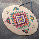 Bordado sobre madera: Mandala Navajo. Un proyecto de Artesanía de Roberta - 21.02.2021