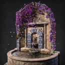 Antique Fountain. A 3D, 3d modeling, Video game, and Game Development project by Paula Sánchez-Ferrero Ruiz - 02.23.2021