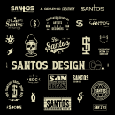 Brand Identify and Design Concept for Santos Design Co.. A Illustration, Graphic Design, T, pograph, and design project by Braian - 02.25.2021