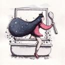 Mi Proyecto del curso: Relatos ilustrados: de la idea al papel. Un proyecto de Ilustración, Pintura a la acuarela e Ilustración con tinta de Claudia Valencia - 25.02.2021