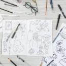 Mi Proyecto del curso: Sketchbook para coleccionar ideas ilustradas. Um projeto de Desenho a lápis e Ilustração digital de Catalina Bu - 01.12.2020