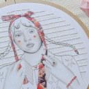 Lazo. A Illustration, Portrait illustration, Embroider, and Fiber Arts project by Yamila Yjilioff - 03.01.2021
