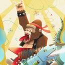 Godzilla vs Kong (Sueño Zurdo style). Um projeto de Ilustração digital de Sergio Pérez Tejero - 02.03.2021
