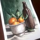 Bodegón en acuarela. Un proyecto de Ilustración, Bellas Artes, Pintura, Dibujo y Pintura a la acuarela de Sergio Vera - 01.08.2020
